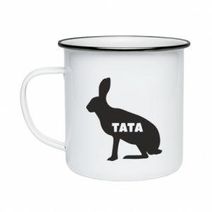 Kubek emaliowane Tata - królik