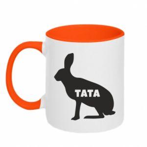 Kubek dwukolorowy Tata - królik