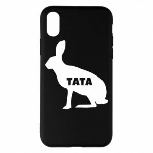 Etui na iPhone X/Xs Tata - królik