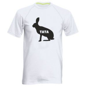 Męska koszulka sportowa Tata - królik