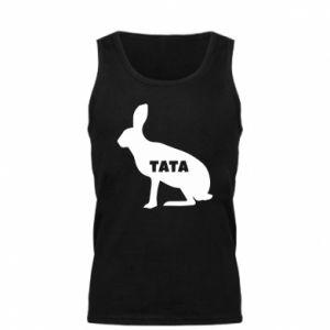 Męska koszulka Tata - królik