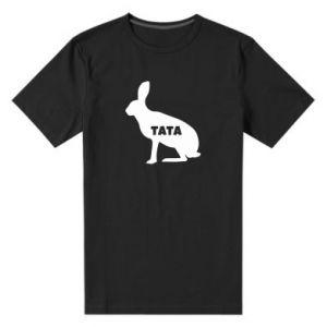 Męska premium koszulka Tata - królik