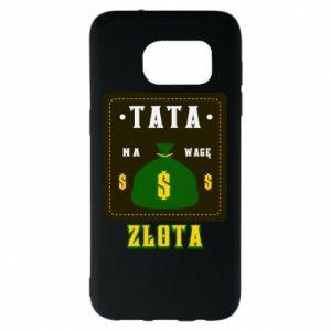 Etui na Samsung S7 EDGE Tata na wagę zlota