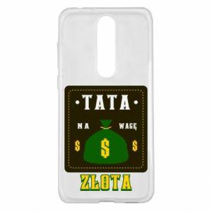 Etui na Nokia 5.1 Plus Tata na wagę zlota