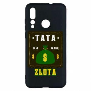 Etui na Huawei Nova 4 Tata na wagę zlota