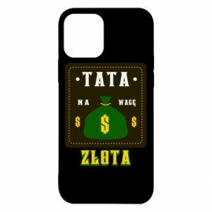 Etui na iPhone 12/12 Pro Tata na wagę zlota