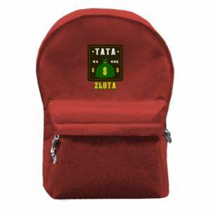 Plecak z przednią kieszenią Tata na wagę zlota