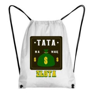 Plecak-worek Tata na wagę zlota