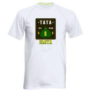Koszulka sportowa męska Tata na wagę zlota