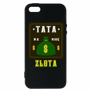 Etui na iPhone 5/5S/SE Tata na wagę zlota