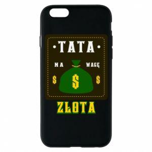 Etui na iPhone 6/6S Tata na wagę zlota