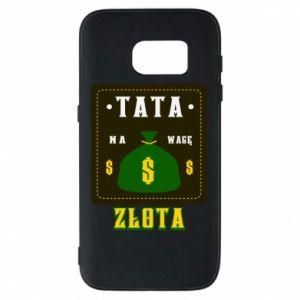 Etui na Samsung S7 Tata na wagę zlota