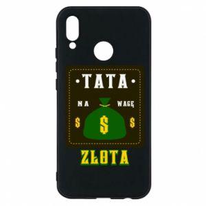 Etui na Huawei P20 Lite Tata na wagę zlota