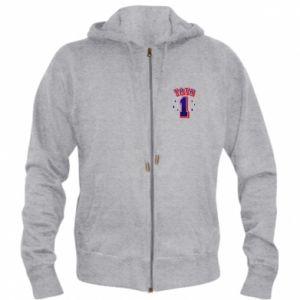Men's zip up hoodie Father number 1 V2