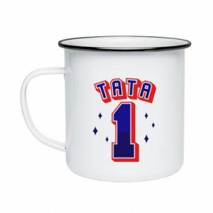 Enameled mug Father number 1 V2