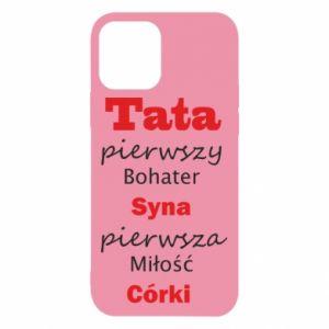Etui na iPhone 12/12 Pro Tata pierwszy bohater syna...
