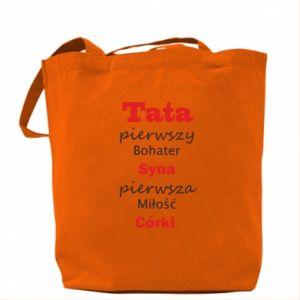 Torba Tata pierwszy bohater syna...