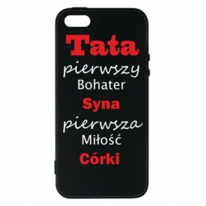 Phone case for iPhone 5/5S/SE Dad, the first hero of his son... - PrintSalon
