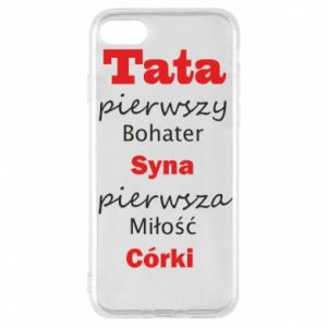 Phone case for iPhone 7 Dad, the first hero of his son... - PrintSalon
