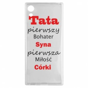 Etui na Sony Xperia XA1 Tata pierwszy bohater syna...