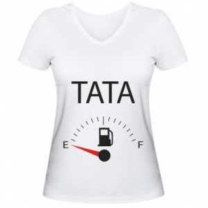 Women's V-neck t-shirt Dad load - PrintSalon