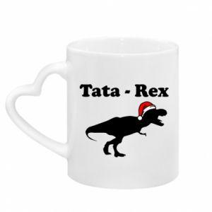 Kubek z uchwytem w kształcie serca Tata - rex