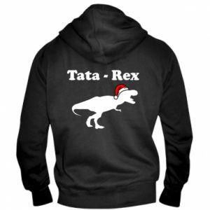 Męska bluza z kapturem na zamek Tata - rex