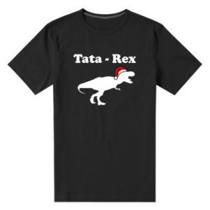 Męska premium koszulka Tata - rex