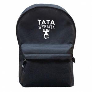 Plecak z przednią kieszenią Tata wymiata