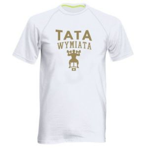 Męska koszulka sportowa Tata wymiata