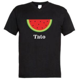 Męska koszulka V-neck Tato arbuza