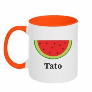 Two-toned mug Tato arbuza - PrintSalon