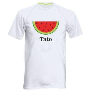 Męska koszulka sportowa Tato arbuza