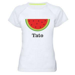 Damska koszulka sportowa Tato arbuza