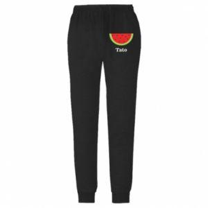 Męskie spodnie lekkie Tato arbuza