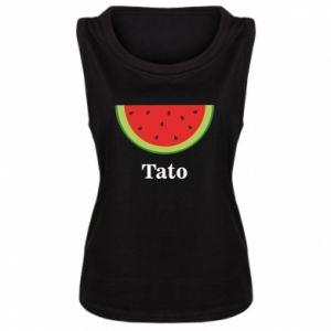 Damska koszulka bez rękawów Tato arbuza