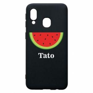 Phone case for Samsung A40 Tato arbuza - PrintSalon