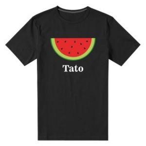 Męska premium koszulka Tato arbuza