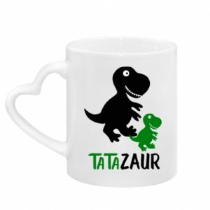 Mug with heart shaped handle Daddy dinosaur