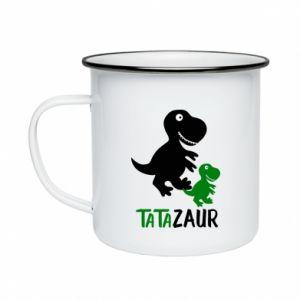 Kubek emaliowane Tato dinozaur