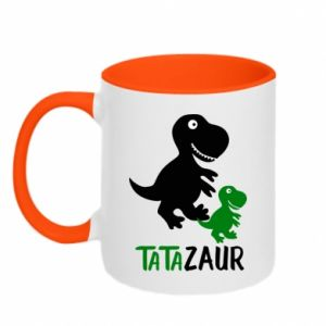 Two-toned mug Daddy dinosaur