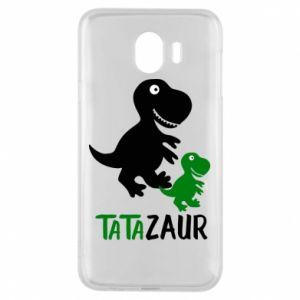 Etui na Samsung J4 Tato dinozaur