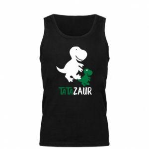 Męska koszulka Tato dinozaur