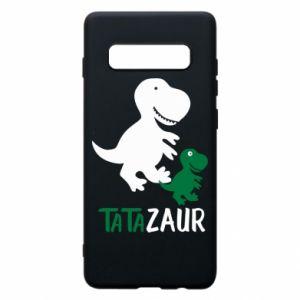 Etui na Samsung S10+ Tato dinozaur