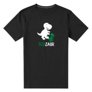 Men's premium t-shirt Daddy dinosaur