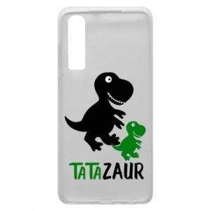 Etui na Huawei P30 Tato dinozaur