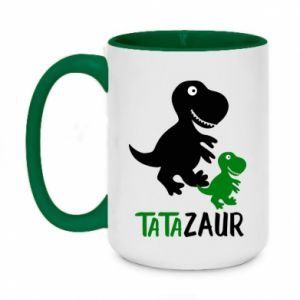 Two-toned mug 450ml Daddy dinosaur