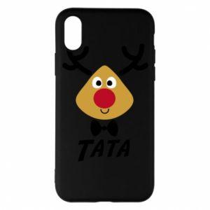 Etui na iPhone X/Xs Tatuś jeleń