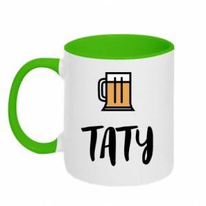 Kubek dwukolorowy Tata i piwo