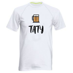 Men's sports t-shirt Daddy and beer
